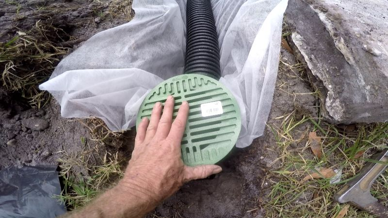 Catch basins collect immediate surface water runoff. French Drain Help
