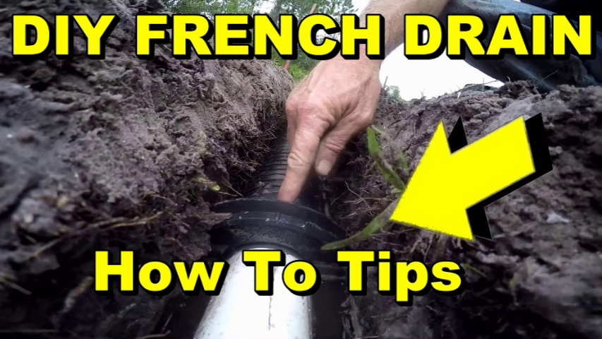 How To Install French Drain Apple Drains Orlando